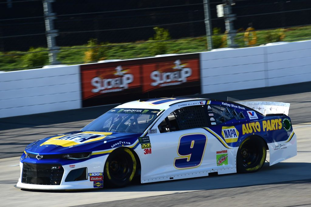 MARTINSVILLE, VA - MARCH 23: Chase Elliott, driver of the #9 NAPA Auto Parts Chevrolet, drive during practice for the Monster Energy NASCAR Cup Series STP 500 at Martinsville Speedway on March 23, 2019 in Martinsville, Virginia. (Photo by Jared C. Tilton/Getty Images) | Getty Images