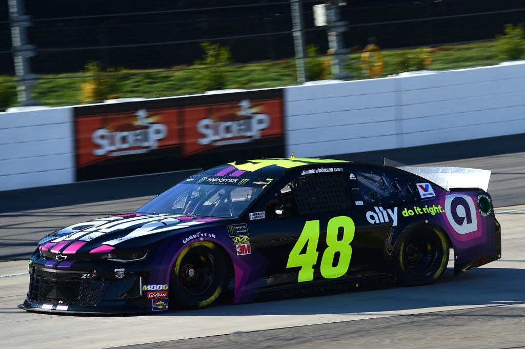 MARTINSVILLE, VA - MARCH 23: Jimmie Johnson, driver of the #48 Ally Chevrolet, drives during practice for the Monster Energy NASCAR Cup Series STP 500 at Martinsville Speedway on March 23, 2019 in Martinsville, Virginia. (Photo by Jared C. Tilton/Getty Images) | Getty Images