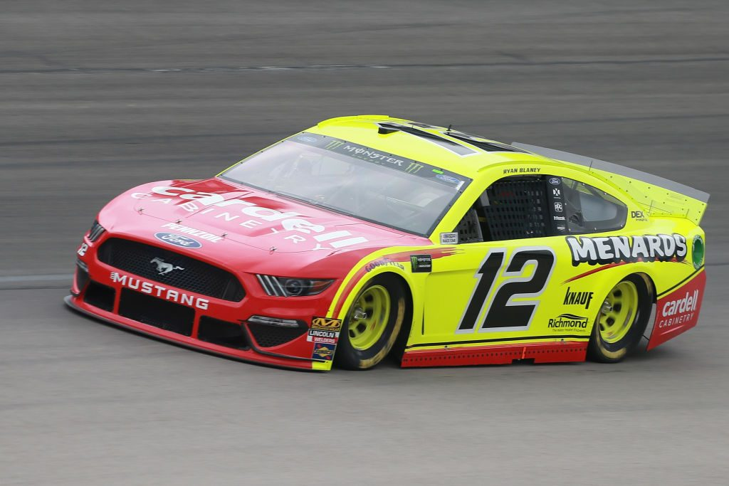 FORT WORTH, TX - MARCH 29: Ryan Blaney, driver of the #12 Menards/Cardell Cabinetry Ford, practices for the Monster Energy NASCAR Cup Series O'Reilly Auto Parts 500 at Texas Motor Speedway on March 29, 2019 in Fort Worth, Texas. (Photo by Matt Sullivan/Getty Images) | Getty Images
