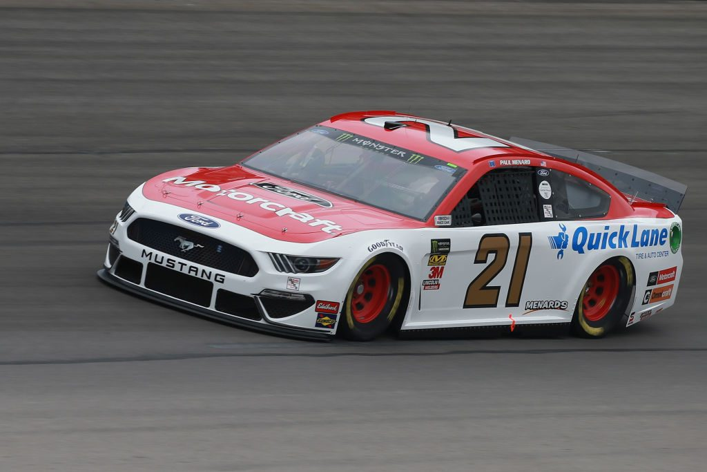 FORT WORTH, TX - MARCH 29: Paul Menard, driver of the #21 Motorcraft/Quick Lane Tire & Auto Center Ford, practices for the Monster Energy NASCAR Cup Series O'Reilly Auto Parts 500 at Texas Motor Speedway on March 29, 2019 in Fort Worth, Texas. (Photo by Matt Sullivan/Getty Images) | Getty Images