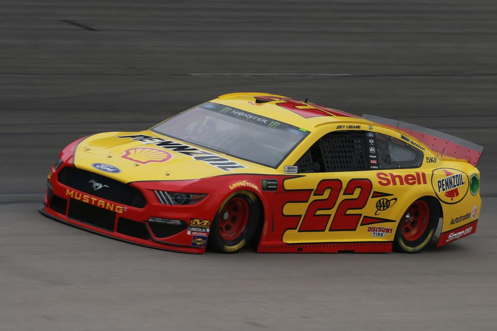 FORT WORTH, TX - MARCH 29: Joey Logano, driver of the #22 Shell Pennzoil Ford, practices for the Monster Energy NASCAR Cup Series O'Reilly Auto Parts 500 at Texas Motor Speedway on March 29, 2019 in Fort Worth, Texas. (Photo by Matt Sullivan/Getty Images) | Getty Images
