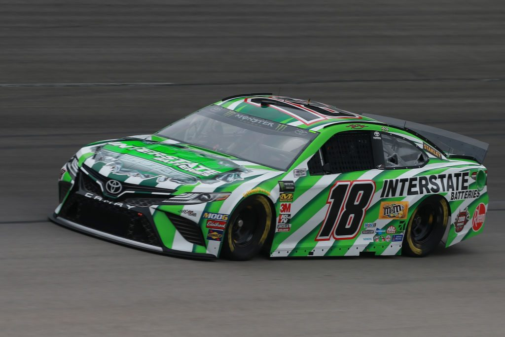 FORT WORTH, TX - MARCH 29: Kyle Busch, driver of the #18 Interstate Batteries Toyota, practices for the Monster Energy NASCAR Cup Series O'Reilly Auto Parts 500 at Texas Motor Speedway on March 29, 2019 in Fort Worth, Texas. (Photo by Matt Sullivan/Getty Images) | Getty Images