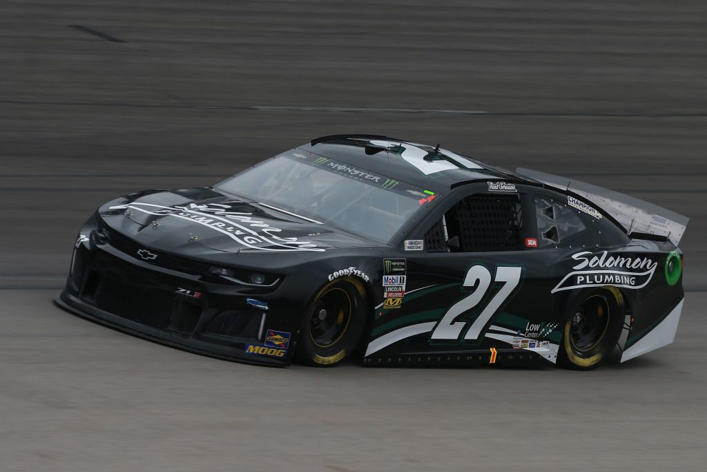 FORT WORTH, TX - MARCH 29: Reed Sorenson, driver of the #27 Soloman Plumbing Chevrolet, practices for the Monster Energy NASCAR Cup Series O'Reilly Auto Parts 500 at Texas Motor Speedway on March 29, 2019 in Fort Worth, Texas. (Photo by Matt Sullivan/Getty Images) | Getty Images