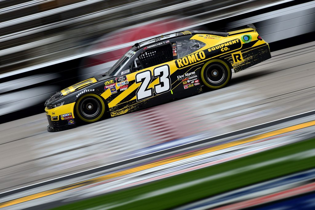 FORT WORTH, TX - MARCH 29:  John Hunter Nemechek, driver of the #23 Romco Equipment Co. Chevrolet, practices for the NASCAR Xfinity Series My Bariatric Solutions 300 at Texas Motor Speedway on March 29, 2019 in Fort Worth, Texas.  (Photo by Jared C. Tilton/Getty Images) | Getty Images