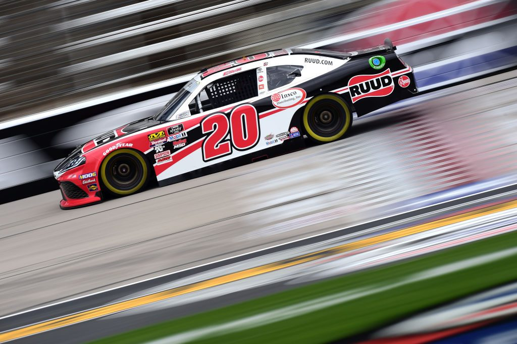 FORT WORTH, TX - MARCH 29: Christopher Bell, driver of the #20 Ruud Toyota, practices for the NASCAR Xfinity Series My Bariatric Solutions 300 at Texas Motor Speedway on March 29, 2019 in Fort Worth, Texas. (Photo by Jared C. Tilton/Getty Images) | Getty Images