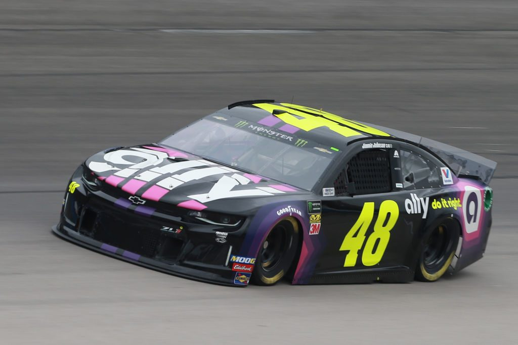 FORT WORTH, TX - MARCH 29: Jimmie Johnson, driver of the #48 Ally Chevrolet, practices for the Monster Energy NASCAR Cup Series O'Reilly Auto Parts 500 at Texas Motor Speedway on March 29, 2019 in Fort Worth, Texas. (Photo by Matt Sullivan/Getty Images) | Getty Images