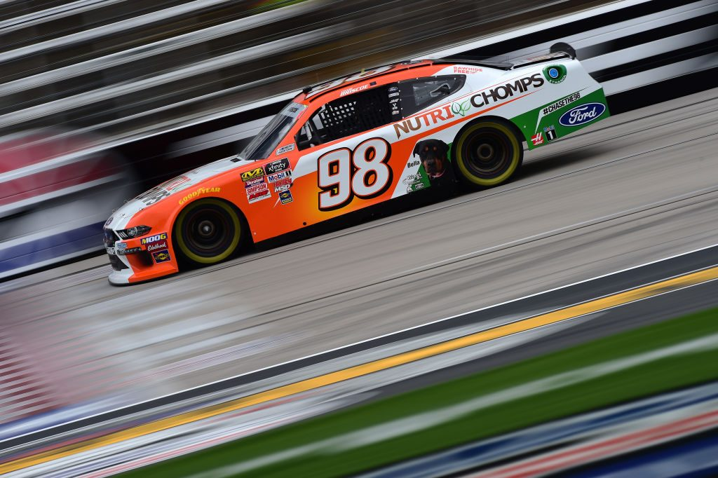 FORT WORTH, TX - MARCH 29: Chase Briscoe, driver of the #98 Nutri Chomps Ford, drives during practice for the NASCAR Xfinity Series My Bariatric Solutions 300 at Texas Motor Speedway on March 29, 2019 in Fort Worth, Texas. (Photo by Jared C. Tilton/Getty Images) | Getty Images