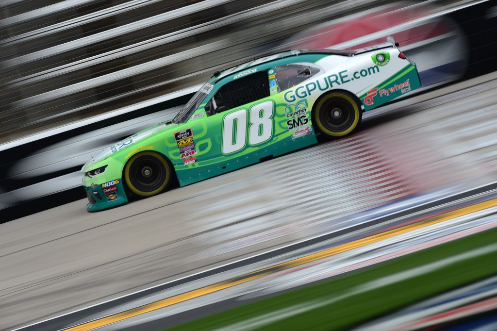 FORT WORTH, TX - MARCH 29: Gray Gaulding, driver of the #08 GGPure.com/Flywheel Chevrolet, drives during practice for the NASCAR Xfinity Series My Bariatric Solutions 300 at Texas Motor Speedway on March 29, 2019 in Fort Worth, Texas. (Photo by Jared C. Tilton/Getty Images)   Getty Images