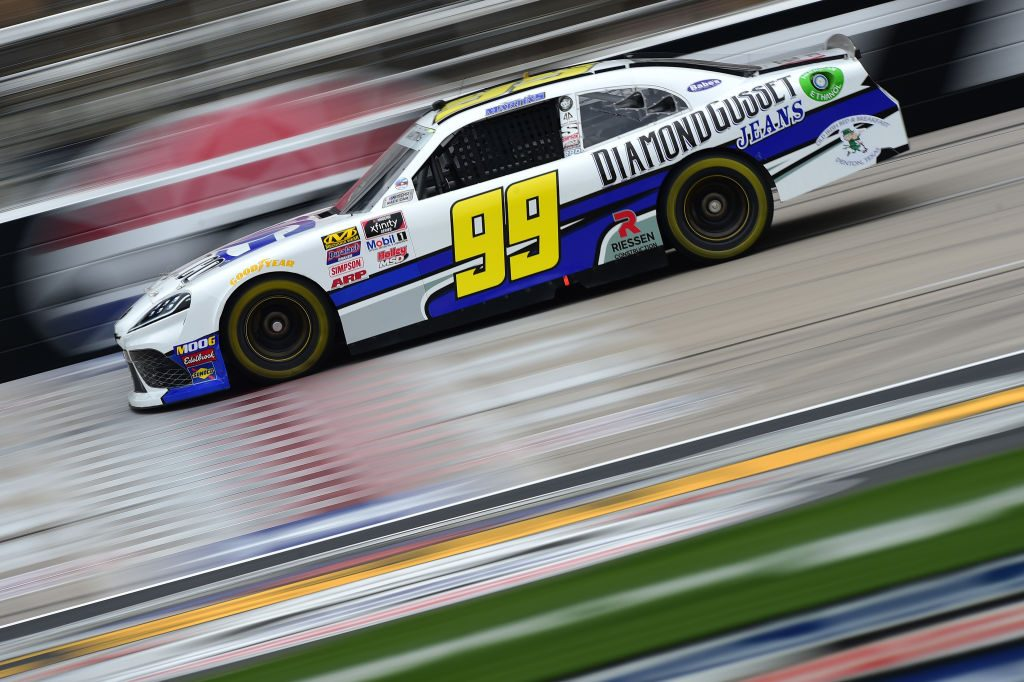 FORT WORTH, TX - MARCH 29: Tommy Joe Martins, driver of the #99 Diamond Gusset Jeans Toyota, drives during practice for the NASCAR Xfinity Series My Bariatric Solutions 300 at Texas Motor Speedway on March 29, 2019 in Fort Worth, Texas. (Photo by Jared C. Tilton/Getty Images) | Getty Images