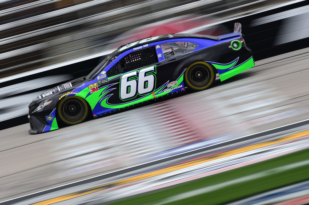 FORT WORTH, TX - MARCH 29: Timmy Hill, driver of the #66 Toyota, drives during practice for the Monster Energy NASCAR Cup Series O'Reilly Auto Parts 500 at Texas Motor Speedway on March 29, 2019 in Fort Worth, Texas. (Photo by Jared C. Tilton/Getty Images) | Getty Images
