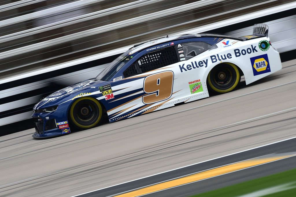 FORT WORTH, TX - MARCH 29: Chase Elliott, driver of the #9 Kelley Blue Book Chevrolet, drives during practice for the Monster Energy NASCAR Cup Series O'Reilly Auto Parts 500 at Texas Motor Speedway on March 29, 2019 in Fort Worth, Texas. (Photo by Jared C. Tilton/Getty Images) | Getty Images