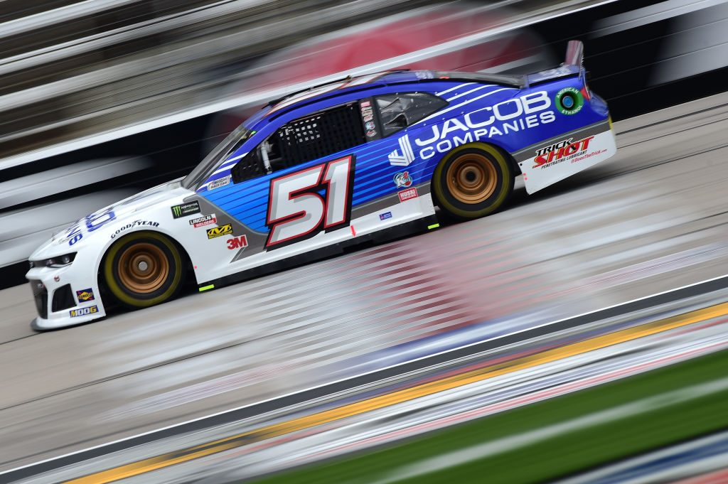 FORT WORTH, TX - MARCH 29: BJ McLeod, driver of the #51 Jacob Companies Chevrolet, drives during practice for the Monster Energy NASCAR Cup Series O'Reilly Auto Parts 500 at Texas Motor Speedway on March 29, 2019 in Fort Worth, Texas. (Photo by Jared C. Tilton/Getty Images) | Getty Images