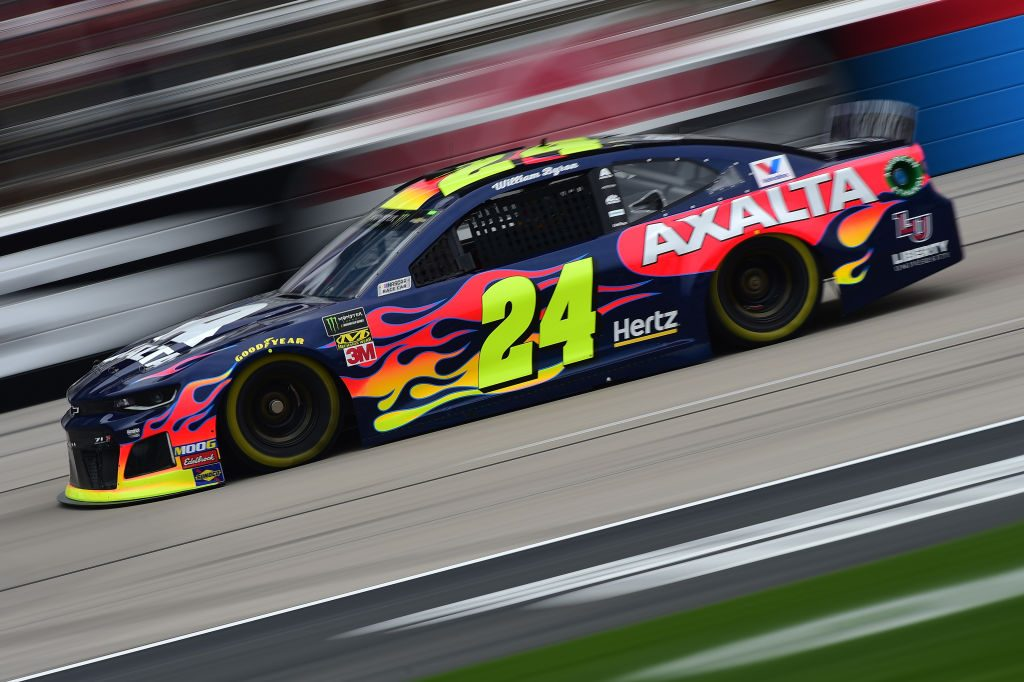FORT WORTH, TX - MARCH 29: William Byron, driver of the #24 Axalta/Primeline Chevrolet, drives during practice for the Monster Energy NASCAR Cup Series O'Reilly Auto Parts 500 at Texas Motor Speedway on March 29, 2019 in Fort Worth, Texas. (Photo by Jared C. Tilton/Getty Images) | Getty Images