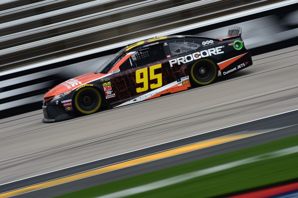 FORT WORTH, TX - MARCH 29: Matt DiBenedetto, driver of the #95 Procore Toyota, drives during practice for the Monster Energy NASCAR Cup Series O'Reilly Auto Parts 500 at Texas Motor Speedway on March 29, 2019 in Fort Worth, Texas. (Photo by Jared C. Tilton/Getty Images) | Getty Images