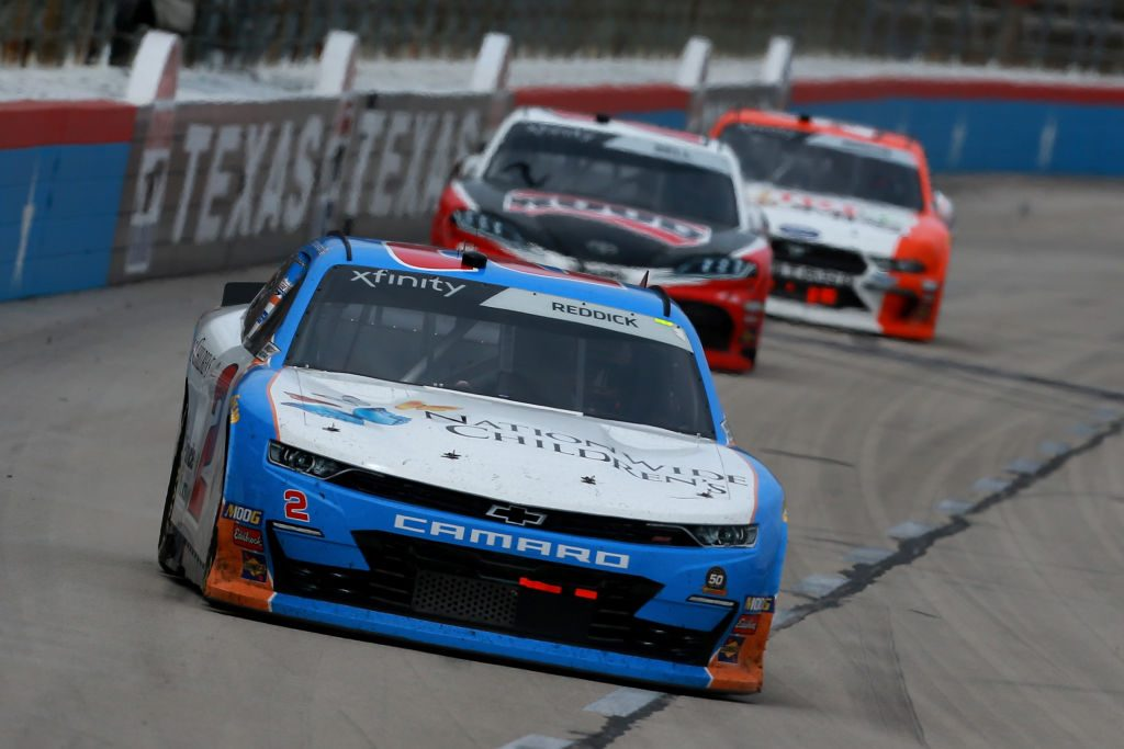 FORT WORTH, TX - MARCH 30: Tyler Reddick, driver of the #2 Nationwide Children's Hospital Chevrolet, leads a pack of cars during the NASCAR Xfinity Series My Bariatric Solutions 300 at Texas Motor Speedway on March 30, 2019 in Fort Worth, Texas. (Photo by Sean Gardner/Getty Images) | Getty Images