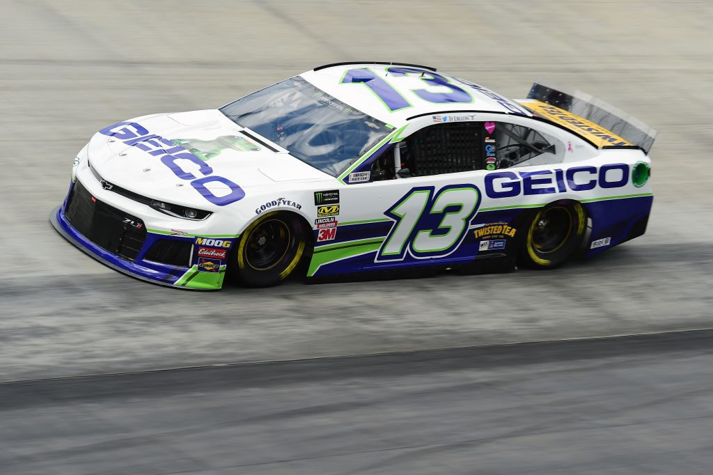 BRISTOL, TN - APRIL 05: Ty Dillon, driver of the #13 GEICO Chevrolet, practices for the Monster Energy NASCAR Cup Series Food City 500 at Bristol Motor Speedway on April 5, 2019 in Bristol, Tennessee. (Photo by Jared C. Tilton/Getty Images) | Getty Images