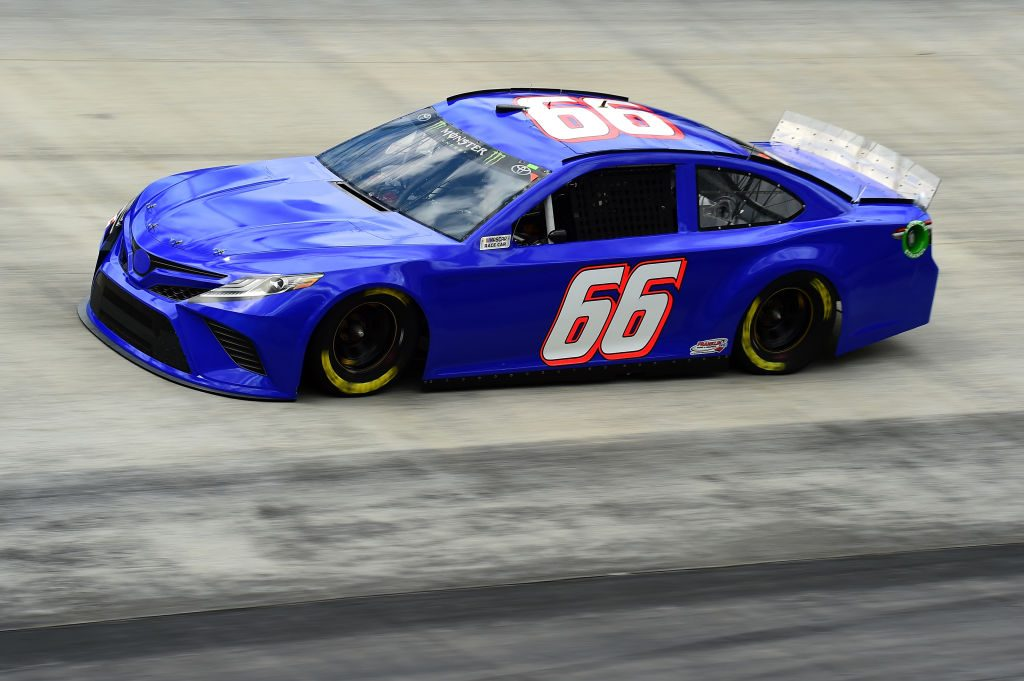BRISTOL, TN - APRIL 05: Joey Gase, driver of the #66 Toyota, practices for the Monster Energy NASCAR Cup Series Food City 500 at Bristol Motor Speedway on April 5, 2019 in Bristol, Tennessee. (Photo by Jared C. Tilton/Getty Images) | Getty Images