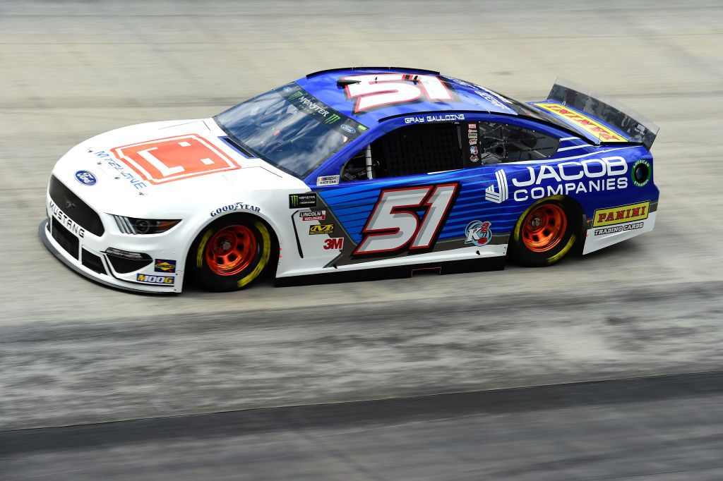 BRISTOL, TN - APRIL 05: Gray Gaulding, driver of the #51 Jacob Companies Ford, practices for the Monster Energy NASCAR Cup Series Food City 500 at Bristol Motor Speedway on April 5, 2019 in Bristol, Tennessee. (Photo by Jared C. Tilton/Getty Images) | Getty Images