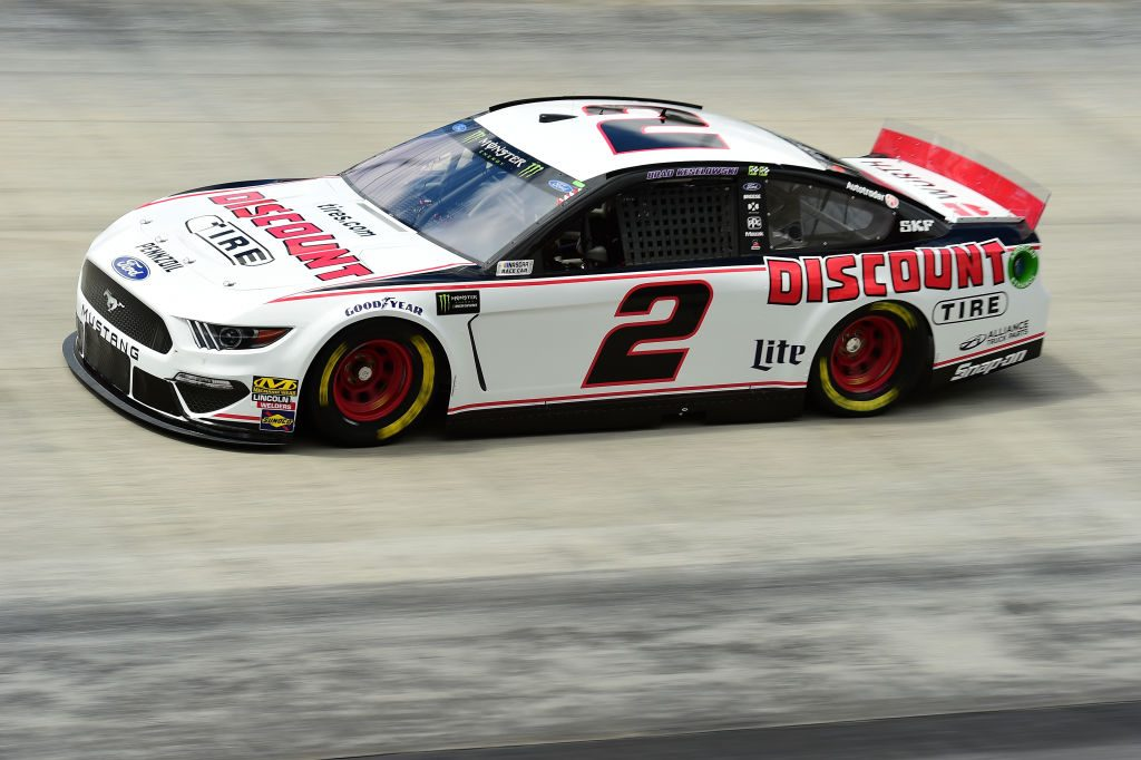 BRISTOL, TN - APRIL 05: Brad Keselowski, driver of the #2 Discount Tire Ford, practices for the Monster Energy NASCAR Cup Series Food City 500 at Bristol Motor Speedway on April 5, 2019 in Bristol, Tennessee. (Photo by Jared C. Tilton/Getty Images) | Getty Images