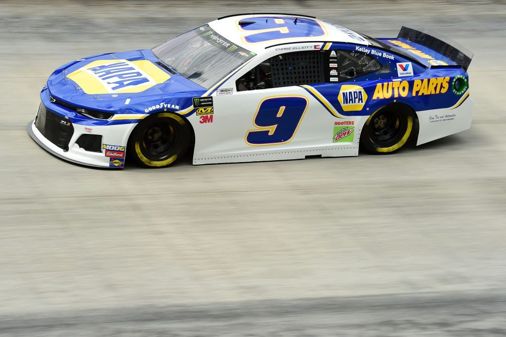 BRISTOL, TN - APRIL 05: Chase Elliott, driver of the #9 NAPA Auto Parts Chevrolet, practices for the Monster Energy NASCAR Cup Series Food City 500 at Bristol Motor Speedway on April 5, 2019 in Bristol, Tennessee. (Photo by Jared C. Tilton/Getty Images) | Getty Images