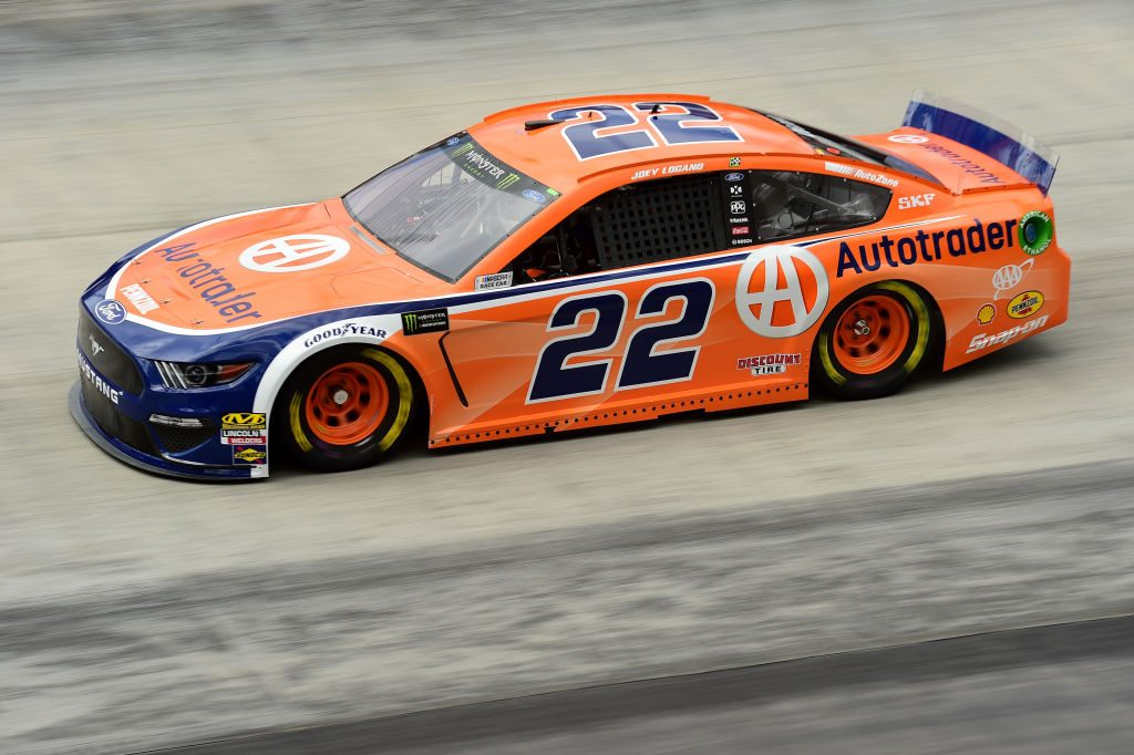 BRISTOL, TN - APRIL 05: Joey Logano, driver of the #22 Autotrader Ford, practices for the Monster Energy NASCAR Cup Series Food City 500 at Bristol Motor Speedway on April 5, 2019 in Bristol, Tennessee. (Photo by Jared C. Tilton/Getty Images) | Getty Images