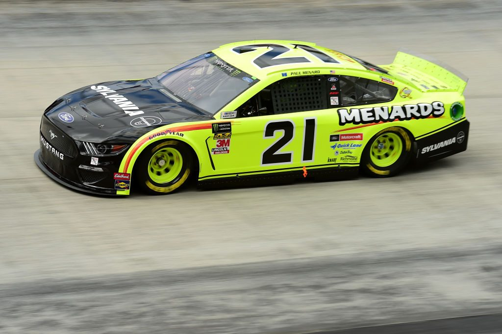 BRISTOL, TN - APRIL 05: Paul Menard, driver of the #21 Menards/Sylvania Ford, practices for the Monster Energy NASCAR Cup Series Food City 500 at Bristol Motor Speedway on April 5, 2019 in Bristol, Tennessee. (Photo by Jared C. Tilton/Getty Images) | Getty Images
