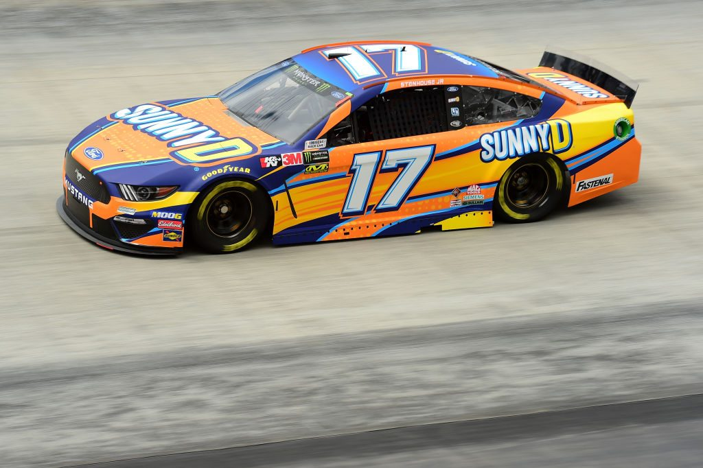 BRISTOL, TN - APRIL 05: Ricky Stenhouse Jr., driver of the #17 SunnyD Ford, practices for the Monster Energy NASCAR Cup Series Food City 500 at Bristol Motor Speedway on April 5, 2019 in Bristol, Tennessee. (Photo by Jared C. Tilton/Getty Images) | Getty Images