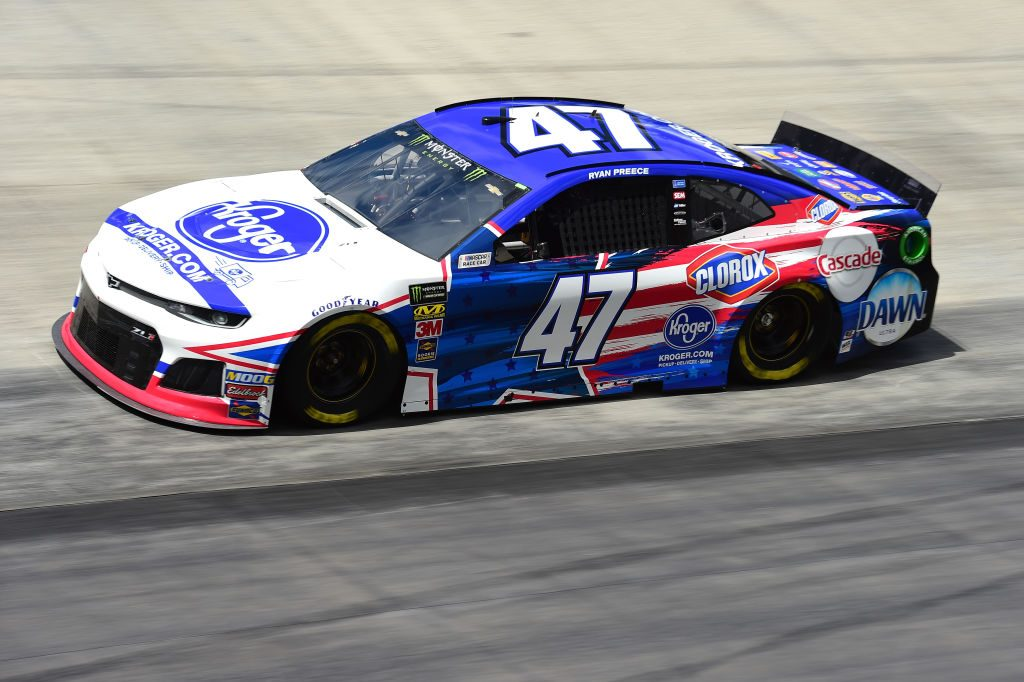 BRISTOL, TN - APRIL 05: Ryan Preece, driver of the #47 Kroger Chevrolet, practices for the Monster Energy NASCAR Cup Series Food City 500 at Bristol Motor Speedway on April 5, 2019 in Bristol, Tennessee. (Photo by Jared C. Tilton/Getty Images) | Getty Images