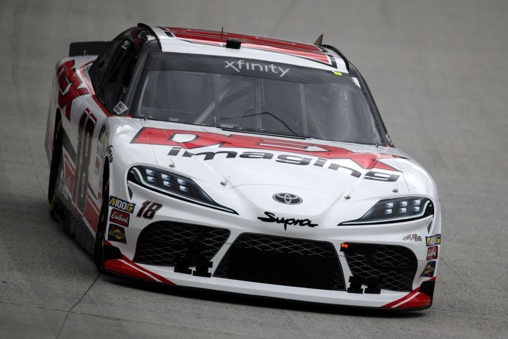 BRISTOL, TN - APRIL 05: Harrison Burton, driver of the #18 Dex Imaging Toyota, practices for the NASCAR Xfinity Series Alsco 300 at Bristol Motor Speedway on April 5, 2019 in Bristol, Tennessee. (Photo by Donald Page/Getty Images) | Getty Images