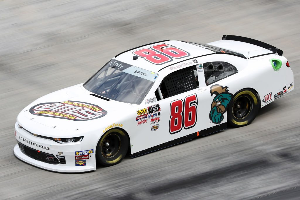 BRISTOL, TN - APRIL 05: Brandon Brown, driver of the #86 Brandonbilt Motorsports Chevrolet, drives during practice for the NASCAR Xfinity Series Alsco 300 at Bristol Motor Speedway on April 5, 2019 in Bristol, Tennessee. (Photo by Chris Graythen/Getty Images)   Getty Images
