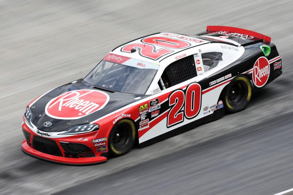 BRISTOL, TN - APRIL 05: Christopher Bell, driver of the #20 Rheem Toyota, drives during practice for the NASCAR Xfinity Series Alsco 300 at Bristol Motor Speedway on April 5, 2019 in Bristol, Tennessee. (Photo by Chris Graythen/Getty Images) | Getty Images