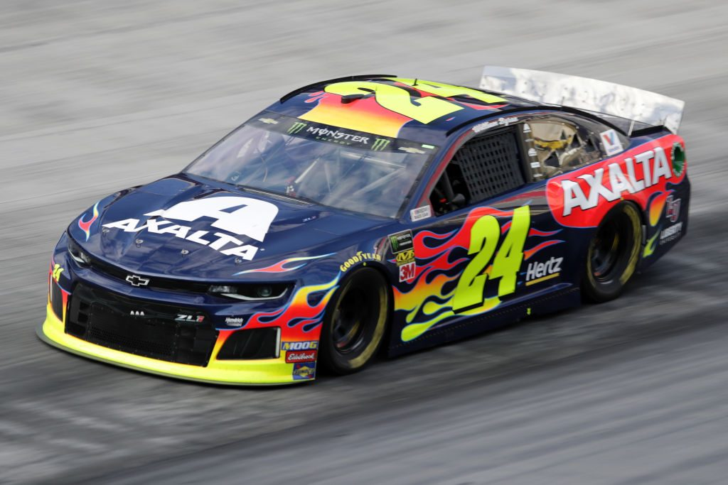 BRISTOL, TN - APRIL 06: William Byron, driver of the #24 Axalta Chevrolet, drives during practice for the Monster Energy NASCAR Cup Series Food City 500 at Bristol Motor Speedway on April 6, 2019 in Bristol, Tennessee. (Photo by Donald Page/Getty Images) | Getty Images