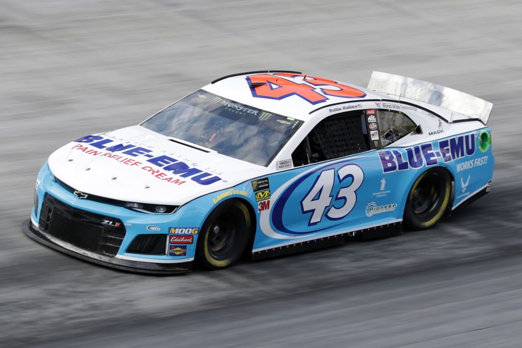 BRISTOL, TN - APRIL 06: Bubba Wallace, driver of the #43 Blue-Emu Chevrolet, drives during practice for the Monster Energy NASCAR Cup Series Food City 500 at Bristol Motor Speedway on April 6, 2019 in Bristol, Tennessee. (Photo by Donald Page/Getty Images) | Getty Images