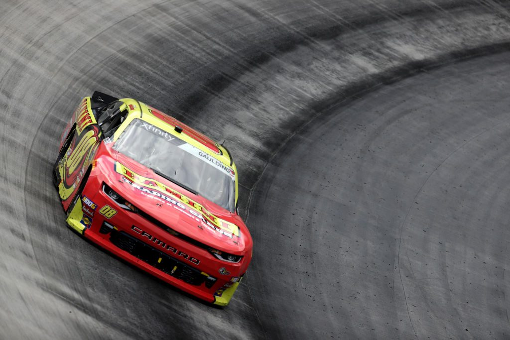 BRISTOL, TN - APRIL 06: Gray Gaulding, driver of the #08 PANINI Chevrolet, races during the NASCAR Xfinity Series Alsco 300 at Bristol Motor Speedway on April 6, 2019 in Bristol, Tennessee. (Photo by Chris Graythen/Getty Images)   Getty Images