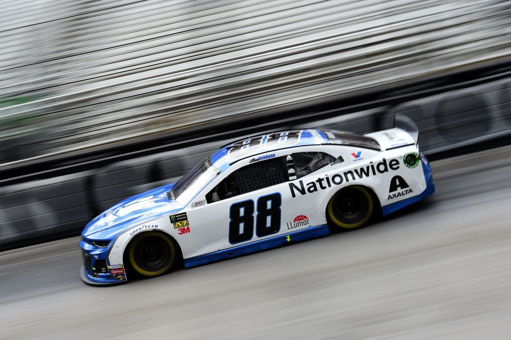 BRISTOL, TN - APRIL 07: Alex Bowman, driver of the #88 Nationwide Chevrolet, races during the Monster Energy NASCAR Cup Series Food City 500 at Bristol Motor Speedway on April 7, 2019 in Bristol, Tennessee. (Photo by Jared C. Tilton/Getty Images) | Getty Images