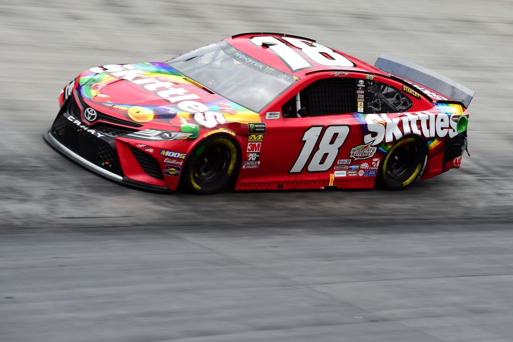 BRISTOL, TN - APRIL 07: Kyle Busch, driver of the #18 Skittles Toyota, races during the Monster Energy NASCAR Cup Series Food City 500 at Bristol Motor Speedway on April 7, 2019 in Bristol, Tennessee. (Photo by Jared C. Tilton/Getty Images) | Getty Images