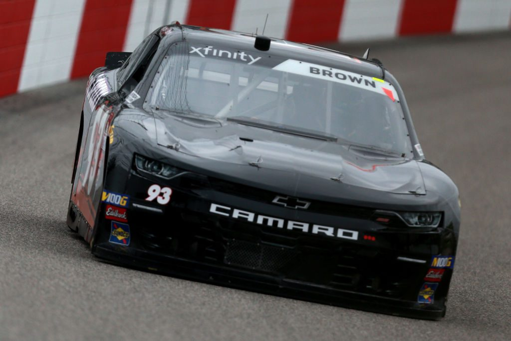 RICHMOND, VA - APRIL 12: Brandon Brown, driver of the #93 RSS Racing Chevrolet, practices for the NASCAR Xfinity Series ToyotaCare 250 at Richmond Raceway on April 12, 2019 in Richmond, Virginia. (Photo by Sean Gardner/Getty Images)   Getty Images
