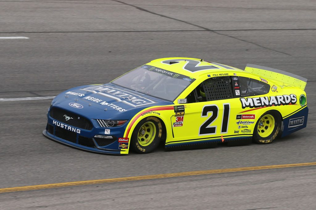 RICHMOND, VA - APRIL 12: Paul Menard, driver of the #21 Menards/Maytag Ford, drives during practice for the Monster Energy NASCAR Cup Series Toyota Owners 400 at Richmond Raceway on April 12, 2019 in Richmond, Virginia. (Photo by Matt Sullivan/Getty Images) | Getty Images