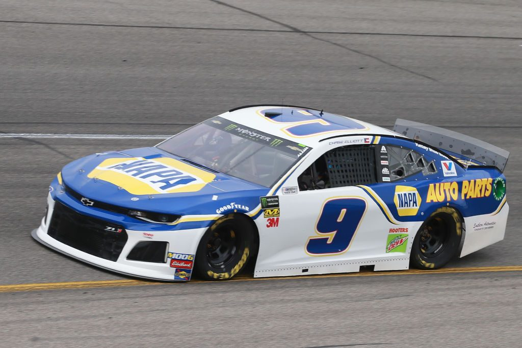RICHMOND, VA - APRIL 12: Chase Elliott, driver of the #9 NAPA AUTO PARTS Chevrolet, drives during practice for the Monster Energy NASCAR Cup Series Toyota Owners 400 at Richmond Raceway on April 12, 2019 in Richmond, Virginia. (Photo by Matt Sullivan/Getty Images) | Getty Images
