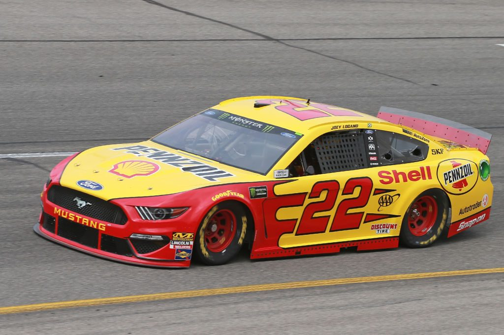 RICHMOND, VA - APRIL 12: Joey Logano, driver of the #22 Shell Pennzoil Ford, drives during practice for the Monster Energy NASCAR Cup Series Toyota Owners 400 at Richmond Raceway on April 12, 2019 in Richmond, Virginia. (Photo by Matt Sullivan/Getty Images) | Getty Images