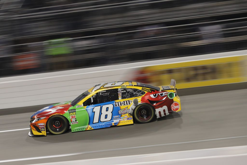 RICHMOND, VA - APRIL 13: Kyle Busch, driver of the #18 M&M's Toyota, races during the Monster Energy NASCAR Cup Series Toyota Owners 400 at Richmond Raceway on April 13, 2019 in Richmond, Virginia. (Photo by Donald Page/Getty Images) | Getty Images