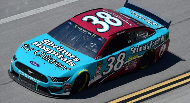 TALLADEGA, AL - APRIL 26:  David Ragan, driver of the #38 Shriners Hospital for Children Ford, practices for the Monster Energy NASCAR Cup Series GEICO 500 at Talladega Superspeedway on April 26, 2019 in Talladega, Alabama.  (Photo by Jared C. Tilton/Getty Images)   Getty Images