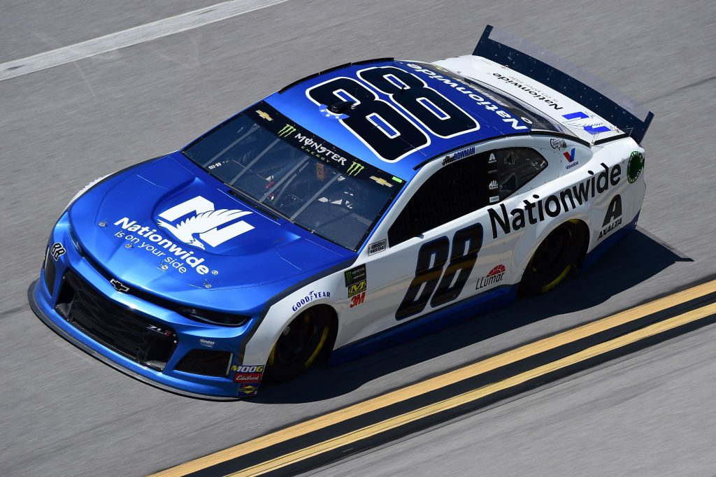 TALLADEGA, AL - APRIL 26: Alex Bowman, driver of the #88 Nationwide Chevrolet, practices for the Monster Energy NASCAR Cup Series GEICO 500 at Talladega Superspeedway on April 26, 2019 in Talladega, Alabama. (Photo by Jared C. Tilton/Getty Images) | Getty Images