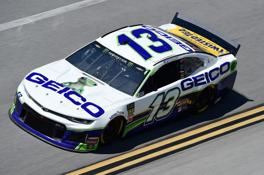 TALLADEGA, AL - APRIL 26: Ty Dillon, driver of the #13 GEICO Chevrolet, practices for the Monster Energy NASCAR Cup Series GEICO 500 at Talladega Superspeedway on April 26, 2019 in Talladega, Alabama. (Photo by Jared C. Tilton/Getty Images) | Getty Images