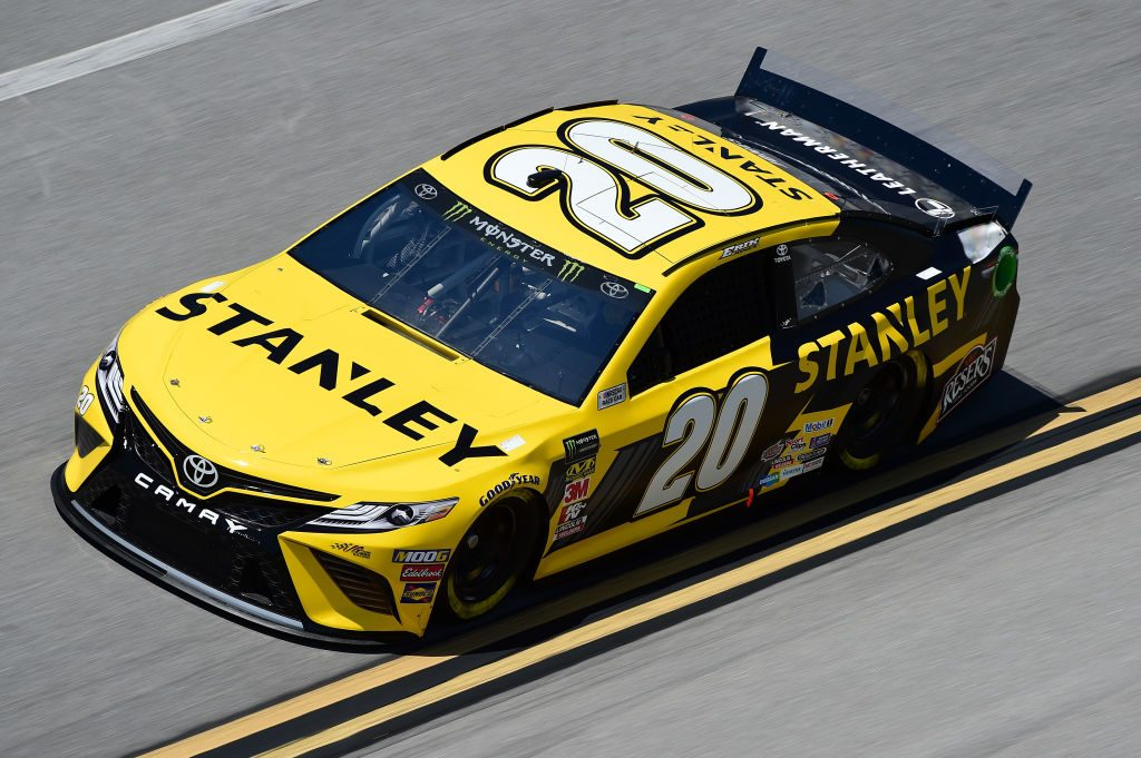 TALLADEGA, AL - APRIL 26: Erik Jones, driver of the #20 STANLEY Toyota, practices for the Monster Energy NASCAR Cup Series GEICO 500 at Talladega Superspeedway on April 26, 2019 in Talladega, Alabama. (Photo by Jared C. Tilton/Getty Images) | Getty Images