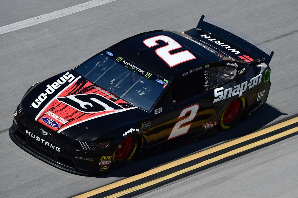 TALLADEGA, AL - APRIL 26: Brad Keselowski, driver of the #2 Snap On Ford, practices for the Monster Energy NASCAR Cup Series GEICO 500 at Talladega Superspeedway on April 26, 2019 in Talladega, Alabama. (Photo by Jared C. Tilton/Getty Images) | Getty Images