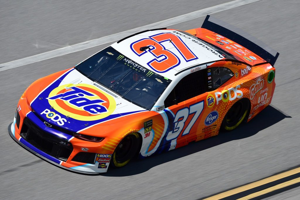 TALLADEGA, AL - APRIL 26: Chris Buescher, driver of the #37 Tide Pods Chevrolet, practices for the Monster Energy NASCAR Cup Series GEICO 500 at Talladega Superspeedway on April 26, 2019 in Talladega, Alabama. (Photo by Jared C. Tilton/Getty Images) | Getty Images
