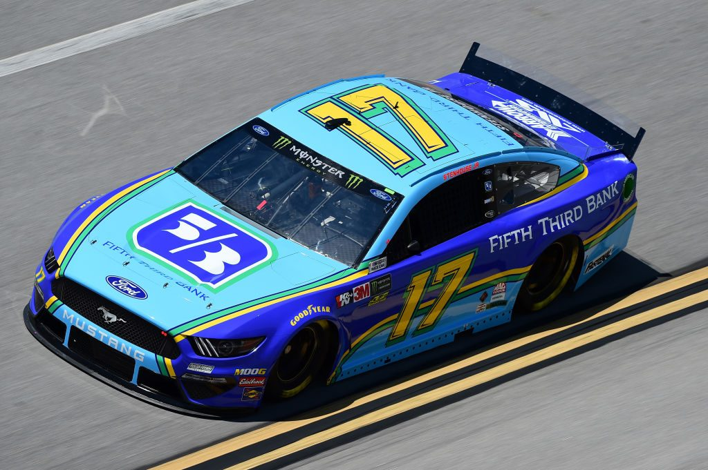 TALLADEGA, AL - APRIL 26: Ricky Stenhouse Jr., driver of the #17 Fifth Third Bank Ford, practices for the Monster Energy NASCAR Cup Series GEICO 500 at Talladega Superspeedway on April 26, 2019 in Talladega, Alabama. (Photo by Jared C. Tilton/Getty Images) | Getty Images
