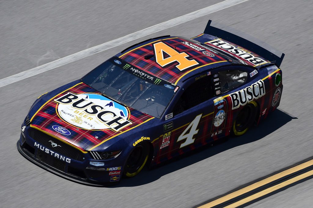 TALLADEGA, AL - APRIL 26: Kevin Harvick, driver of the #4 Busch Beer Flannel Ford, practices for the Monster Energy NASCAR Cup Series GEICO 500 at Talladega Superspeedway on April 26, 2019 in Talladega, Alabama. (Photo by Jared C. Tilton/Getty Images) | Getty Images