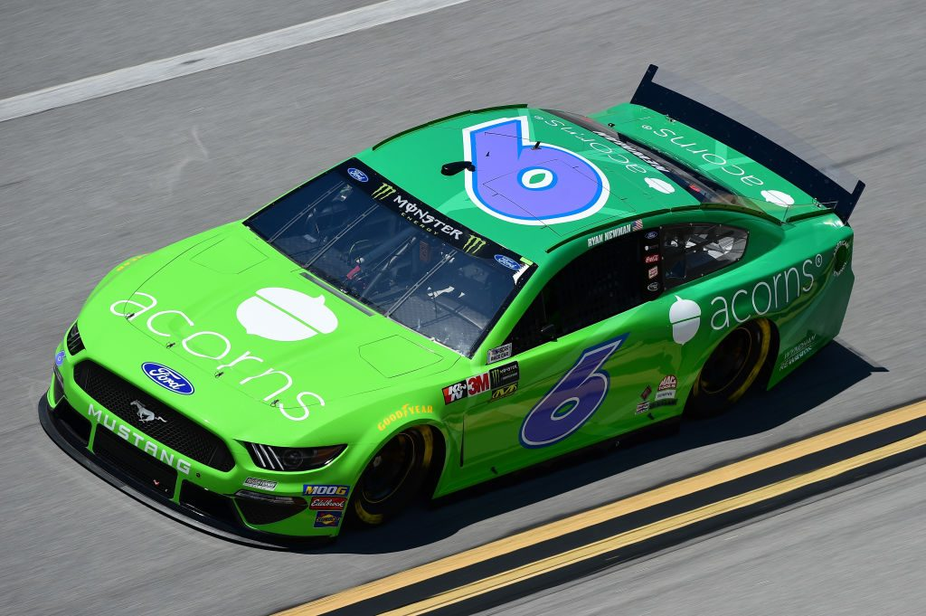 TALLADEGA, AL - APRIL 26: Ryan Newman, driver of the #6 Acorns Ford, practices for the Monster Energy NASCAR Cup Series GEICO 500 at Talladega Superspeedway on April 26, 2019 in Talladega, Alabama. (Photo by Jared C. Tilton/Getty Images) | Getty Images